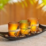 Dawhud Direct 3 Decorative Natural Candlescape Set