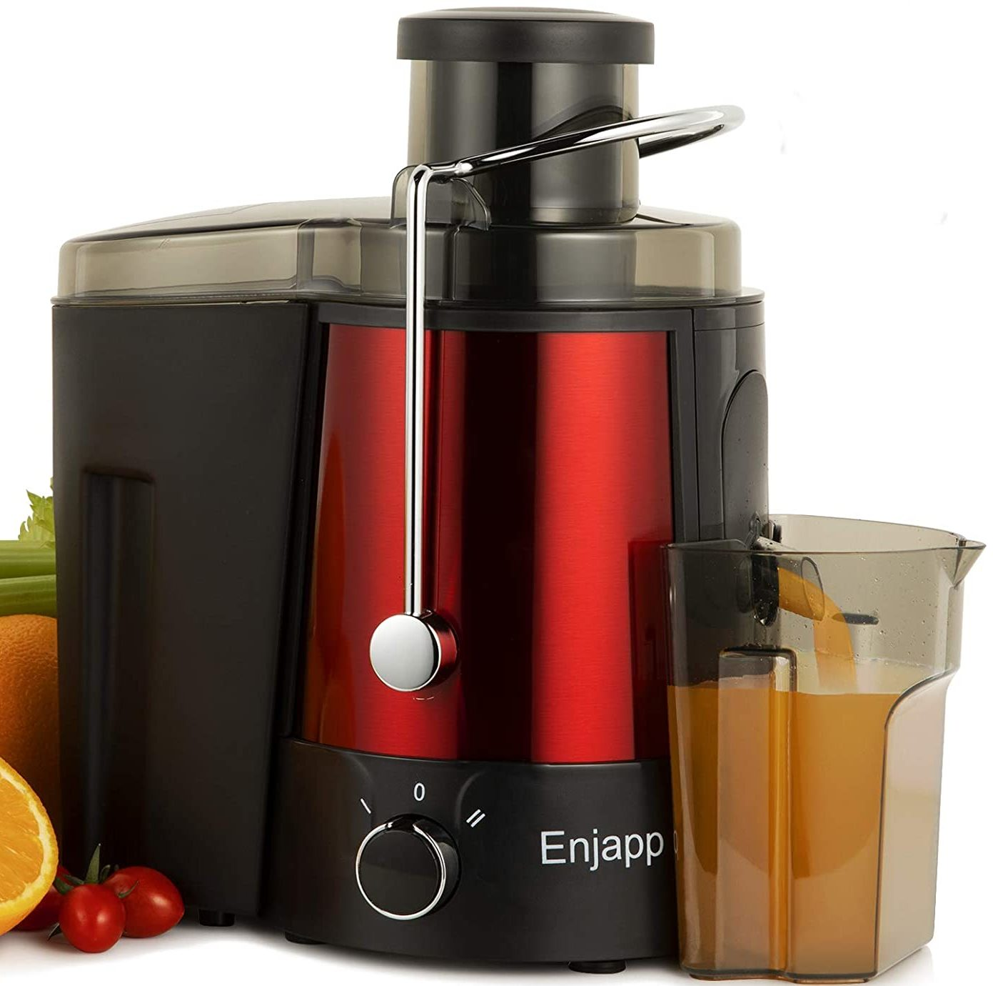 Enjapp Juice Extractor, Ultra-Fast Centrifugal Juicer Machines (600W, Black)