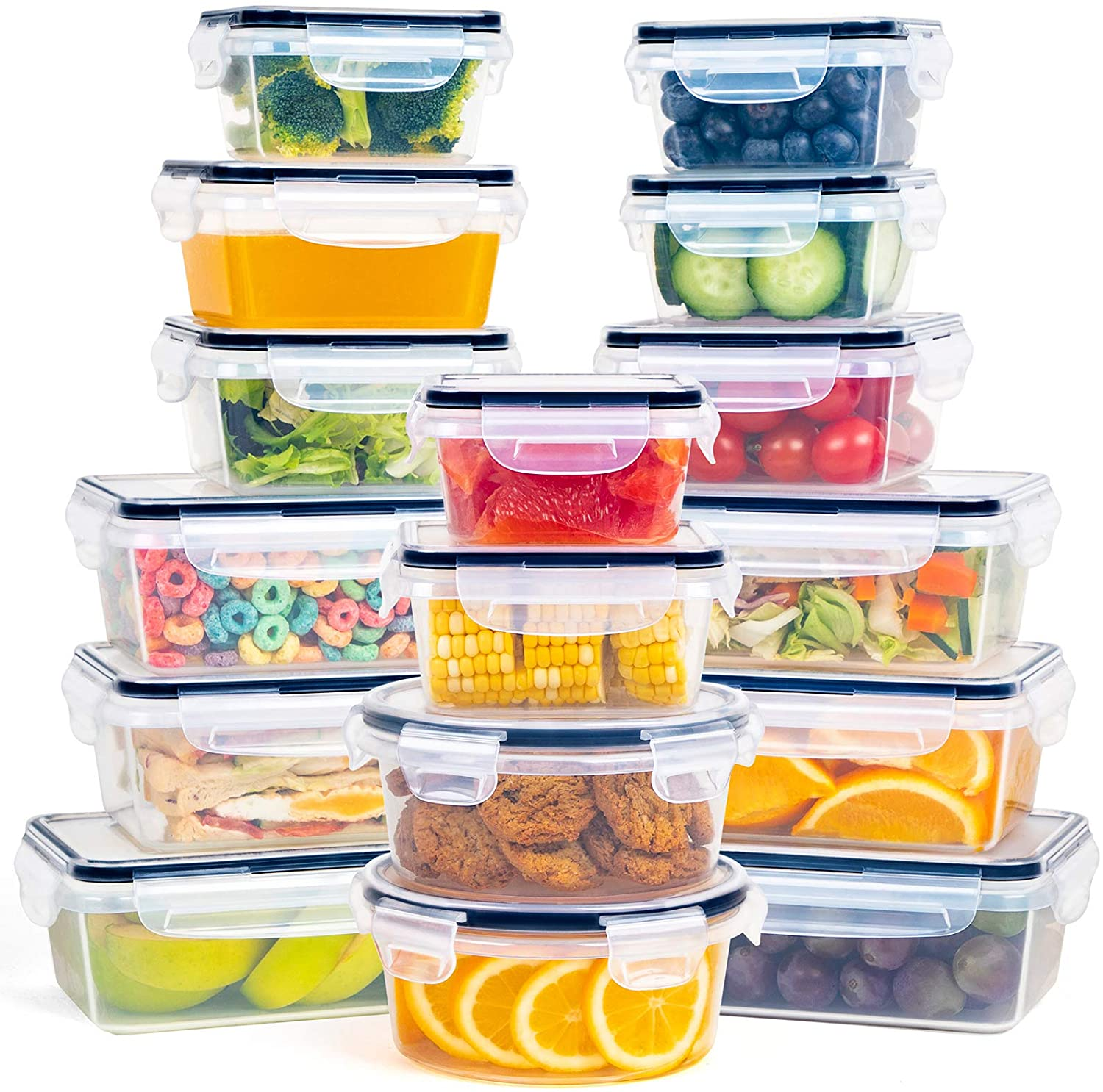 FOOYOO Multipurpose Food Storage Containers (Leak Proof Snap Lock)