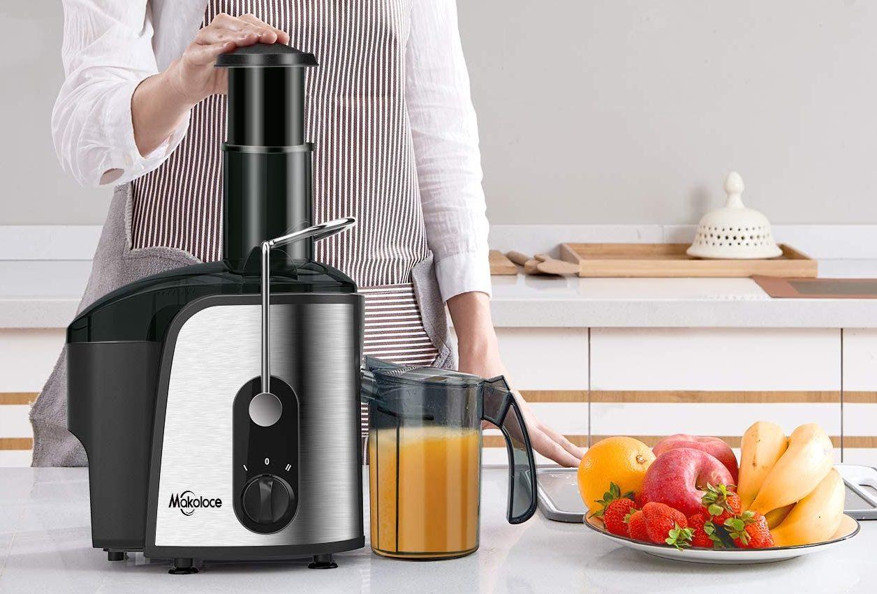 Makoloce Compact Juicer Machines Vegetable and Fruit Juice Maker (1200W)