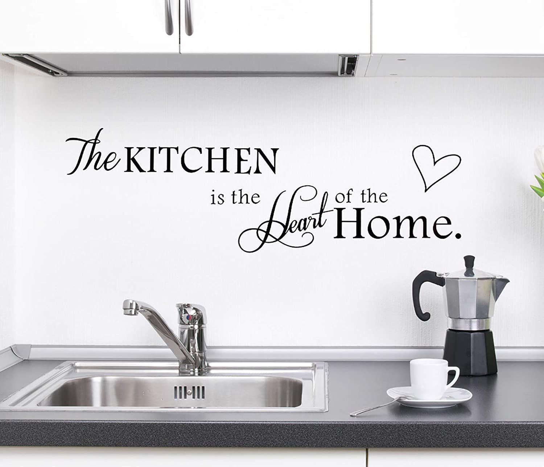 Rotumaty 'The Kitchen' Quote Vinyl Wall Stickers Kitchen Decor (Size A)