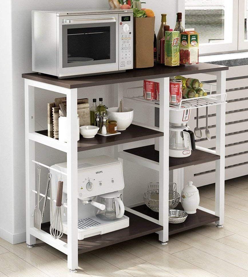 Soges 3-Tier Kitchen Baker's Rack Shelf (W5s-B, Black)