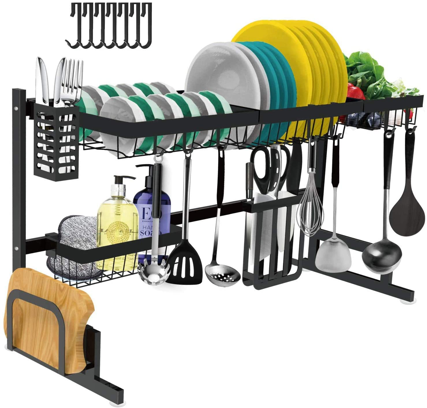 Tsmine Over the Sink Dish Drying Rack for Kitchen Organization