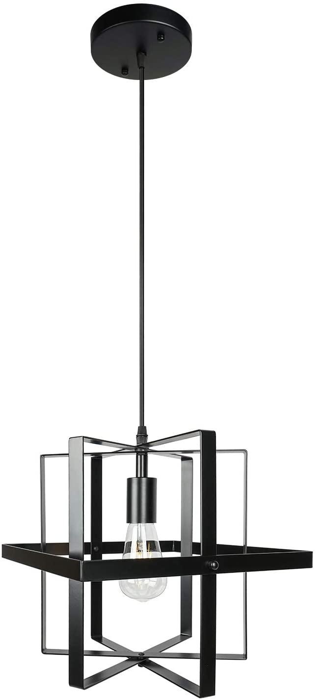 1-Light Black Modern Farmhouse Industrial Pendant Lighting