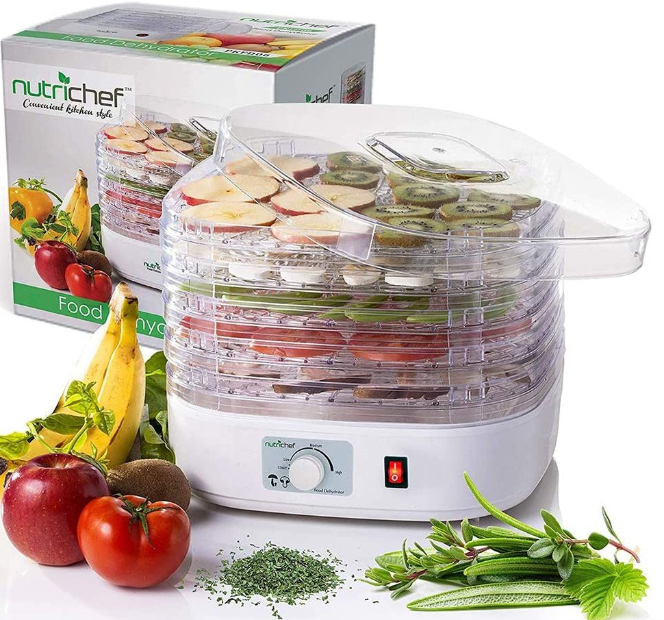 NutriChef PKFD06 Professional Food Dehydrator Machine with 5 Stackable Trays