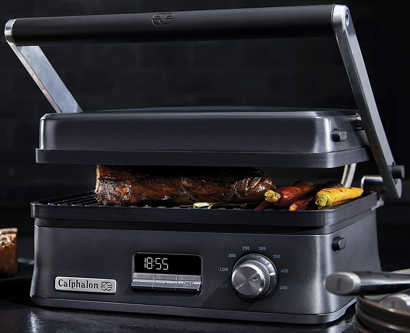 Calphalon Dark Stainless Steel Indoor Electric Multi-Grill