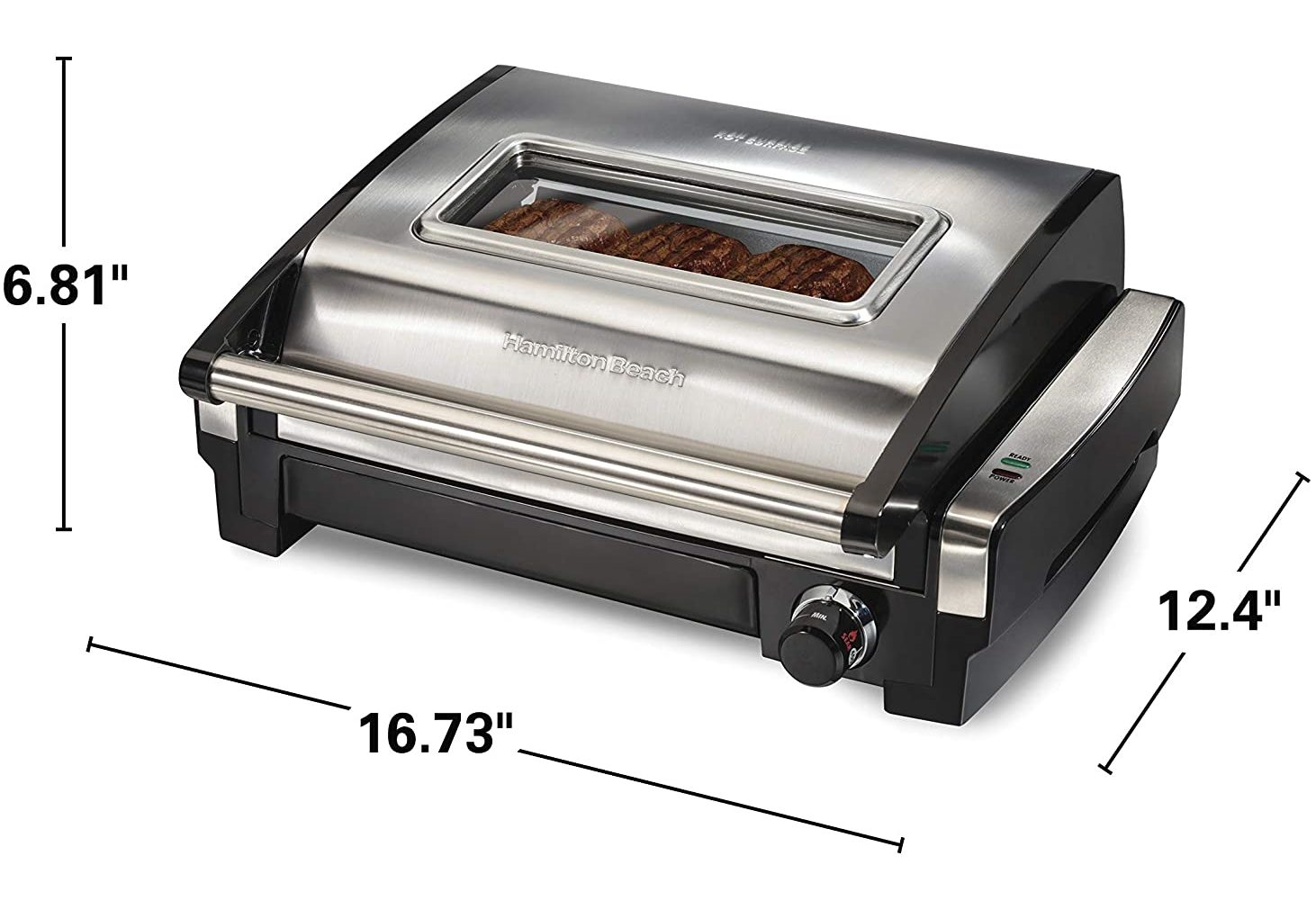 Hamilton Beach 25361 Electric Indoor Searing Grill in Stainless Steel Finish